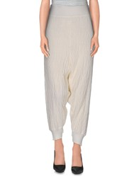 Lost And Found Lost And Found Trousers 3 4 Length Trousers Women White
