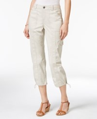 Styleandco. Style Co. Petite Bungee Hem Cargo Capri Pants Only At Macy's Stonewall