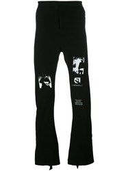 Julius Flared Jersey Trousers Black