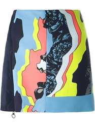 Versace 'Jagged Baroque' Zipped Mini Skirt Multicolour