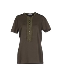 Kangra Cashmere Topwear T Shirts Women Military Green
