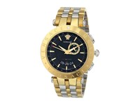 Versace V Race Gmt 29G79d009 S079 Stainless Steel Yellow Gold Watches