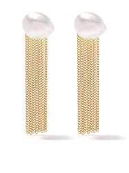 Wouters And Hendrix Gold 18Kt Yellow Gold Pearl Tassel Earrings
