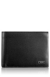 Tumi Men's 'Monaco' Global Leather Wallet With Coin Pocket Black