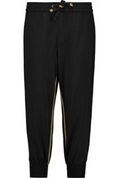 Marc By Marc Jacobs Cropped Cotton Jersey Track Pants Black