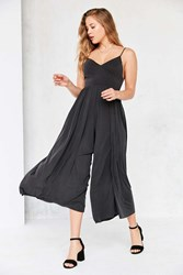 Silence And Noise Molly Cupro Culotte Jumpsuit Washed Black