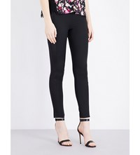French Connection Glass Stretch Jersey Trousers Black