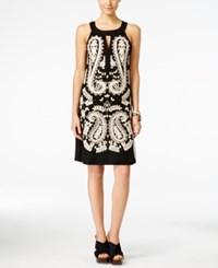 Inc International Concepts Embroidered Keyhole Sheath Dress Only At Macy's Deep Black