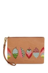 Fossil Small Leather Wristlet Red