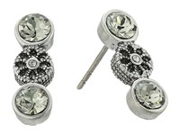 Marc Jacobs Daisy Grommet Studs Earrings Crystal Antique Silver Earring
