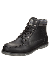 Your Turn Laceup Boots Black Multi Blue Light Grey
