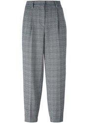 Incotex Houndstooth Pattern Trousers Grey