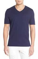 Men's Vince Camuto Pima Cotton V Neck T Shirt Navy