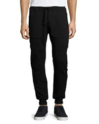 Belstaff Farlane Fleece Jogger Sweatpants Black