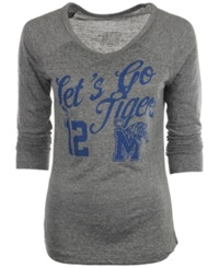 Royce Apparel Inc Women's Long Sleeve Memphis Tigers Graphic T Shirt Gray