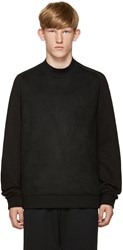 Wooyoungmi Black Faux Suede Pullover