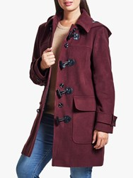 Four Seasons Plain Duffle Coat Red