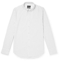 Rag And Bone Fit 2 Tomlin Slim Fit Button Down Collar Striped Cotton Oxford Shirt Gray