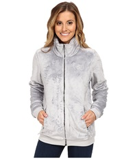 The North Face Mod Osito Jacket High Rise Grey Metallic Silver Women's Coat Gray