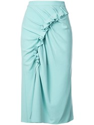 Sies Marjan Ruched Skirt Green