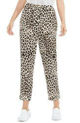 Vince Camuto Women's Leopard Song Pull On Slim Leg Pants