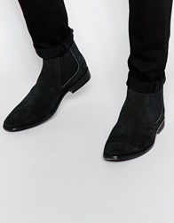 Base London Suede Chelsea Boots Black