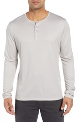 Stone Rose Trim Fit Henley Ivory