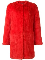 P.A.R.O.S.H. Question Coat Red