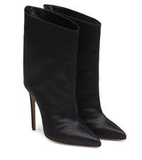 Alexandre Vauthier Alex Low Satin Ankle Boots Black