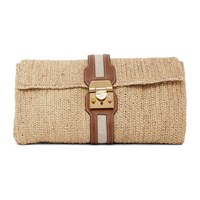 Mark Cross Ssense Exclusive Beige And Brown Sylvette Clutch