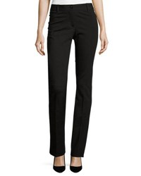 Neiman Marcus Woven Straight Fit Pants Black