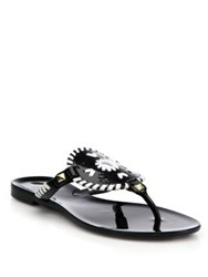 Jack Rogers Georgica Jelly Sandals Black White