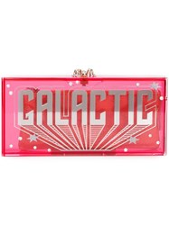 Charlotte Olympia 'Galactic Penelope' Clutch Pink And Purple