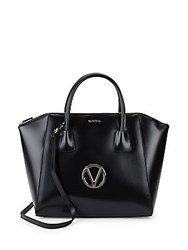 Valentino By Mario Valentino Gigi Soave Leather Tote Black