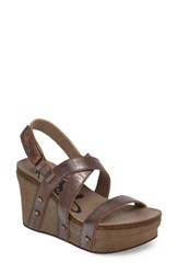 Otbt Women's Sail Wedge Sandal Pewter Leather