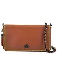 Coach Chain Strap Crossbody Bag Brown