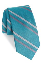 The Tie Bar Pep Stripe Aqua