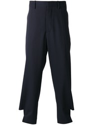 Marni Buttoned Tab Trousers Blue