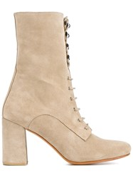 Maryam Nassir Zadeh Chunky Heel Boots Nude And Neutrals