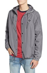 Rvca Va Hooded Coach's Jacket Smoke Grey