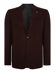 Peter Werth Pavilion Two Button Flannel Blazer Burgundy