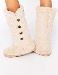 Bedroom Athletics Grace Knee Length Slipper Boot Gingerbread Beige