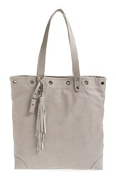 Treasure And Bond Grommet Leather Tote Grey Grey Opal