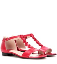 Altuzarra Wilder T Strap Sandals Red