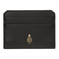 Mark Cross Black Logo Card Holder