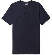 Engineered Garments Cotton Jersey Henley T Shirt Navy