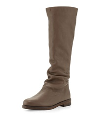 Cervo Zip Back Knee Boot Smog Henry Beguelin