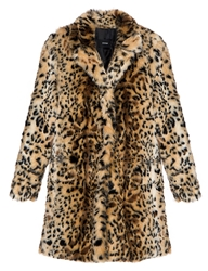 Pixie Market Wild Call Leopard Faux Fur Coat