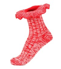 Alexander Mcqueen Wool And Silk Blend Socks Red
