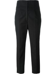 Red Valentino Cropped Straight Leg Trousers Black